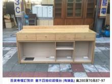 [8成新] 專櫃訂製款櫃台 收銀台 櫃檯收納櫃有輕微破損