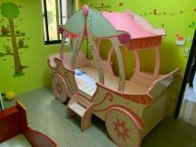 [9成新] 小公主最愛三尺南瓜馬車單人床架無破損有使用痕跡