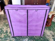 [9成新] 紫色簡易式鞋櫃*布套鞋櫃*簡易鞋鞋櫃無破損有使用痕跡
