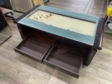 [9成新] 吉田二手傢俱❤實木2人收納沙發几木製沙發無破損有使用痕跡