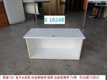 [8成新] K16248 白色電視櫃 穿鞋椅電視櫃有輕微破損