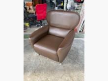 [9成新] 吉田二手傢俱❤單人皮沙發主人椅單人沙發無破損有使用痕跡
