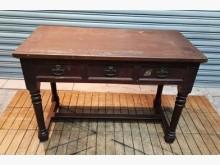 [8成新] 古早味三抽書桌書桌/椅有輕微破損