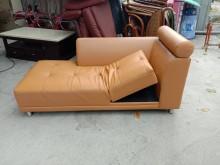 [9成新] 半牛皮貴妃椅H03102雙人沙發無破損有使用痕跡