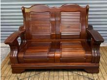 [8成新] 半樟木雙人沙發木製沙發有輕微破損