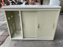 [9成新] 3.3尺推門主機側櫃辦公櫥櫃無破損有使用痕跡