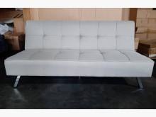 [全新] 新品淺灰色亞麻布沙發床雙人沙發全新