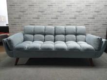 [全新] 新品灰藍三人坐布沙發雙人沙發全新