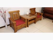 [8成新] 原木家俱兩椅一茶几其它桌椅有輕微破損