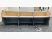 三人屏風辦公桌/屏風辦公桌隔間屏風近乎全新