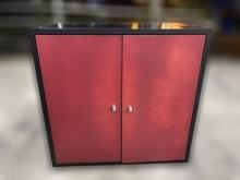 [9成新] A92902*黑紅色收納櫃 *收納櫃無破損有使用痕跡