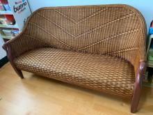 [9成新] 藤製天鵝三人沙發/籐製沙發無破損有使用痕跡