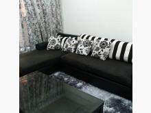 [9成新] 黑色時尚沙發賣屋隨便賣L型沙發無破損有使用痕跡