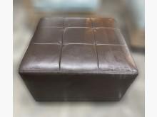 [8成新] A104HJ*咖啡色方形沙發椅*沙發矮凳有輕微破損