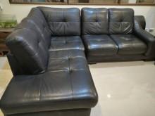 [9成新] 二手半牛皮厚沙發,無破損出售L型沙發無破損有使用痕跡