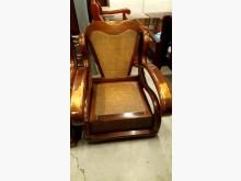 [8成新] 大台北二手傢俱-單人木頭椅木製沙發有輕微破損