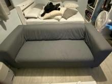 [95成新] 【惜福伯】IKEA三人座布沙發雙人沙發近乎全新