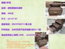 [9成新] 鑫勝2手-胡桃色雙層床邊櫃床頭櫃無破損有使用痕跡