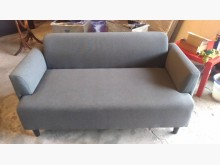 [9成新] 【尚典中古家具】灰色兩人座布沙發雙人沙發無破損有使用痕跡