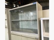 [7成新及以下] (二手)三尺玻璃鐵櫃辦公櫥櫃有明顯破損