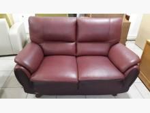 [9成新] 豬肝紅半牛皮2+3皮沙發多件沙發組無破損有使用痕跡
