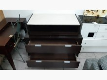 [9成新] 胡桃色雲石4層置物櫃收納櫃無破損有使用痕跡