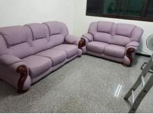 [95成新] 3+2貓抓皮實木沙發多件沙發組近乎全新