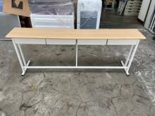 [9成新] 吉田二手傢俱❤上課桌學習桌書桌書桌/椅無破損有使用痕跡