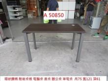 [9成新] A50850 環狀 鋼構 電腦桌電腦桌/椅無破損有使用痕跡
