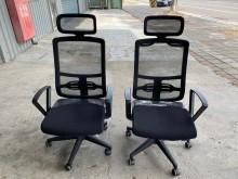 [9成新] 黑色網布高背電腦椅(可升降)電腦桌/椅無破損有使用痕跡