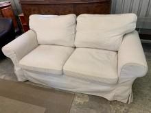 [9成新] IKEA-兩人布沙發組(可拆洗)多件沙發組無破損有使用痕跡
