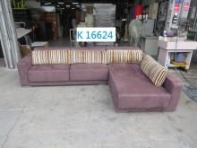 [9成新] K16624 麂絨布 L型沙發L型沙發無破損有使用痕跡
