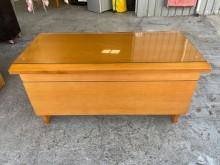 [9成新] 大慶二手家具 實木書桌(含玻)書桌/椅無破損有使用痕跡