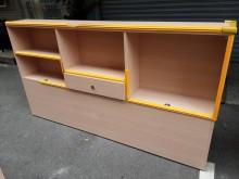[8成新] 連欣二手傢俱-6尺雙人床頭箱有輕微破損