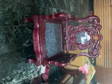[9成新] 進口紅木雕花花崗岩椅及茶几書桌/椅無破損有使用痕跡