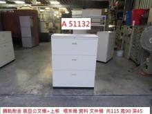 [9成新] A51132 鋼軌 震旦公文櫃辦公櫥櫃無破損有使用痕跡