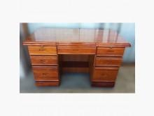[9成新] 原木書桌耐用便宜賣書桌/椅無破損有使用痕跡