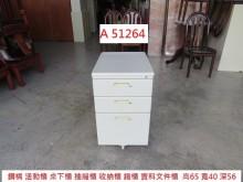 [9成新] A51264 白色活動櫃 桌下櫃辦公櫥櫃無破損有使用痕跡
