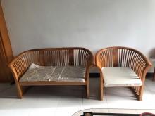 [8成新] 便宜木質沙發木製沙發有輕微破損