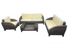 [9成新] 藤製沙發組1+2+3+大茶几籐製沙發無破損有使用痕跡