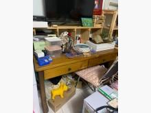 [8成新] 原木書桌書桌/椅有輕微破損