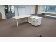 合運二手傢俱~震旦木紋L型辦公桌辦公桌無破損有使用痕跡