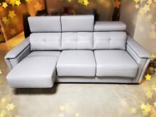 [全新] 3人皮沙發厚皮高級灰好坐多件沙發組全新