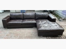 [9成新] 三合二手物流(全牛皮L型沙發)L型沙發無破損有使用痕跡