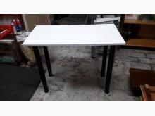 [全新] 全新實木貼皮可拆鐵脚小餐桌餐桌全新