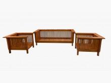 [9成新] TK21103*柚木113沙發組木製沙發無破損有使用痕跡