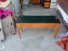 [9成新] 大理石面書桌玄關桌H03340書桌/椅無破損有使用痕跡
