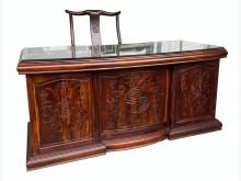 [8成新] GT121505*雞翅木7抽書桌書桌/椅有輕微破損