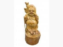 [95成新] R121807*樟木彌勒佛雕像*擺飾近乎全新
