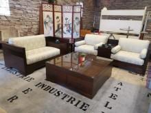 [9成新] 富貴吉祥3+2布沙發(可拆洗)多件沙發組無破損有使用痕跡